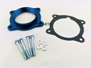 Blue Aluminum Throttle Body Spacer fit GMC Acadia Chevy Malibu Traverse 3.6L