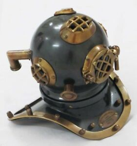 Antique US Navy Mini Diving Divers Helmet Vintage Style Scuba Divers Gift Helmet