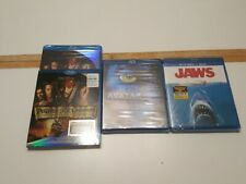 Lot Of 3 Blu-ray Movies Jaws Avatar & Pirates Of The Caribbean