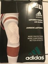 Adidas Compression Adipower Padded Knee Sleeve Basketball Mens Medium Green
