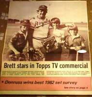 GEORGE BRETT JSA COA Autographed 14x10 Topps Ad Hand Signed Authentic ROYALS