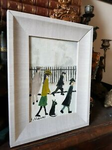 L S Lowry Signed -  Oil Painting