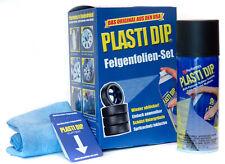 Plasti Dip Sprühfolie Felgenfolie 4x Schwarz matt Abziehlack Spray inkl. Zubehör