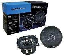 """car speakers 150w 4"""" small dash van door shelf 10cm 2 way coaxial powerful wire"""