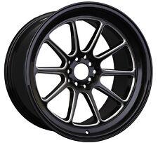 XXR 557 18x8.5 5x100/114.3 +15 Black/Milled Wheels Fits 350z G35 240sx Rx8 Rx7