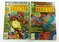 Marvel THE ETERNALS (1977) #9 #16 READER LOT KIRBY LOT GD/VG (3.0) Ships FREE!