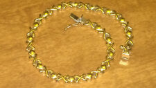 """14K Solid Yellow Gold Ladies Bracelet 7.8 grams 7 1/4"""" 5mm Wide THICK HEAVY"""