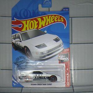 """2020 Hotwheels HW Rescue""""Nissan 300ZX Twin Turbo"""" Police Car.#7/10"""