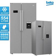 Beko GNE63521DXB 576L Side-by-Side Kühl-Gefrier-Kombination - Edelstahllook
