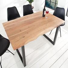 Massiver Baumstamm Esstisch MAMMUT 140cm Massivholz Akazie Industrial Tisch