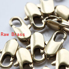 10 Pieces Raw Brass Round Lobster Clasp - Lobster Claw 12mm (336C-I-25X)