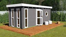 Gartensauna, Saunahaus, Außensauna Sauna 5.8x2.4M 45mm Oldenburg EB45005F28ISOL