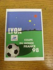 1998 Copa del Mundo: postal oficial-Host City-Lyon (MU09). bobfrankandelvis (un