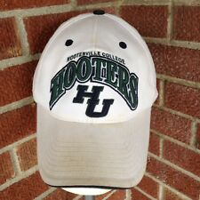 Hooters Restaurant Hooterville College HU Hat Dirty Distressed Strapback Cap