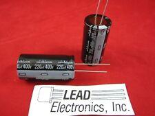 2pack 220uf 400v 105-degree Radial Nichicon UVZ2G221MRD 25mm x 50mm