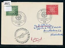06612) KLM FF Amsterdam - Kuwait 25.9.63, Karte ab BRD CEPT ESST Bonn