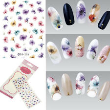 Water Transfer Nail Art Sticker Flowers Nails Wrap Foil Manicure DIY Salon Decor
