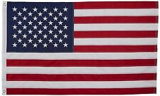 Embroidered USA Flag 2X3 Foot US Stars and Stripes American w/ Flag Pole Rings