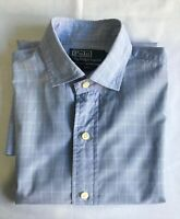 POLO RALPH LAUREN Estate | Men's LS Button Shirt | Blue White Checks | Size 37