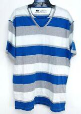 Levis Mens Blue Striped Slim Fit Skate Crew Neck Short Sleeve Tee T-Shirt Sz XXL