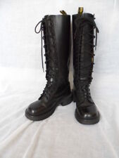 DR MARTENS 20-eye tall knee 1420/92 black leather women 4 lace-up boots England