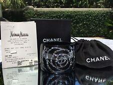 CHANEL Camellia Glitter CC Cuff Bracelet Black NWT & Authentic-& Dustcover & Box