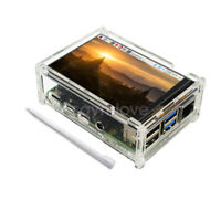 Raspberry Pi 4 Model B 3.5 inch TFT LCD Display Touch Screen + Case + Heat sinks