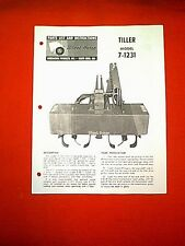 WHEEL HORSE TRACTOR TILLER ATTACHMENT MODEL 7-1231 OWNERS WITH PARTS MANUAL