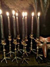 Wicked Gothic Claw Foot Candle Holders Ritual Pagan Occult Witchcraft $110 Pair