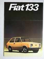 Prospekt depliant Fiat 133, ca.1975, 4 Seiten, francais