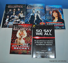 Lot of 5 Battlestar Galactica Science Fiction Books $78 cover