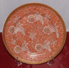 Japan Kunst Porzellan Teller  Meiji Periode 1868-1912 SATSUMA Porcelain Antik