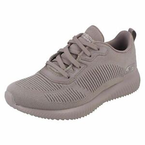 Ladies Skechers Bobs Sport with Memory Foam Lace Up Trainers : Tough Talk