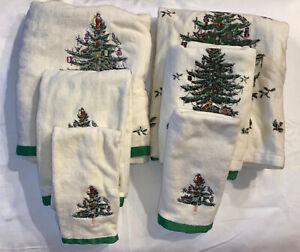 2 Avanti Spode Christmas Tree 3 pc Bath Towel Sets Bath, Hand, Wash 6 Towels