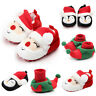 Kids Baby Girl Boys Shoes Comfortable First Walkers Shoes Christmas Slippers UK