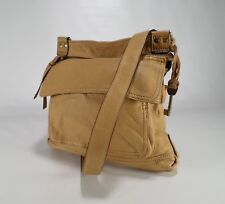 Fossil Leather Crossbody Handbag Organizer Purse Messenger Bag Paisley Tan