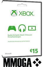Microsoft Xbox Live 15 Euro Card MS Xbox 360 & One Live 15 € Guthaben Karte [EU]