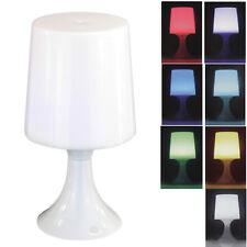 LED Tischlampe mit 7 fach Farbwechsel Tischleuchte Nachttischlampe Lampe Deko