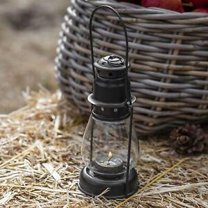 Vintage Black Metal Steel Hanging & Carry Lantern Tall Tea Light Candle Holder