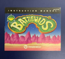 Nintendo NES Manual / Instruction Booklet - Battletoads - No Game Freeship