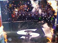 Baltimore Ravens Ray Lewis Signed NFL Football 11x14 Photo Autographed Football