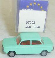NSU Tt Voiture Particulière Turquoise Imu / Modèle Européen 07003 H0 1/87