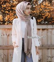 100% Viscose Maxi Crinkle Cloud Hijab Scarf Shawl Soft Islam Muslim 180x85cm