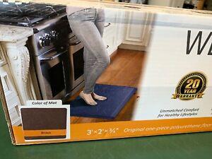 """NEW Wellness Mats 66/"""" x 20/"""" Smart Step Suede HONEY Anti Fatigue Mat"""