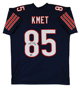 Cole Kmet Authentic Signed Navy Blue Pro Style Jersey Autographed BAS Witnessed