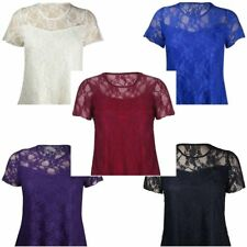 Party Short Sleeve Semi Fitted Tops & Shirts Plus Size for Women