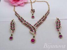 Necklace Earrings Set Gold Tone Indian Wedding Design New Costume Jewellery Wear