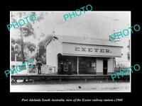 OLD LARGE HISTORIC PHOTO OF PORT ADELAIDE SA, THE EXETER RAILWAY STATION c1900