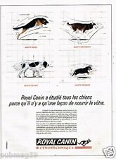 Publicité advertising 1990 Aliments pour chien Royal Canin