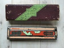 Vintage M. Hohner Echo-Luxe Harmonica Key of C/G Double Sided Germany